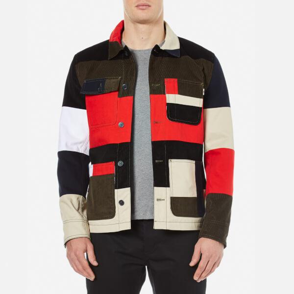 Maison Kitsuné Men's Patched Worker Jacket - Multi