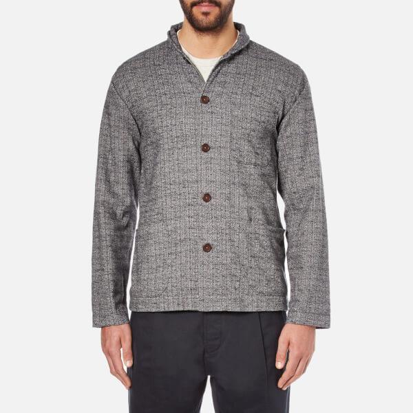 Universal Works Men's Shawl Collar Overshirt - Grey