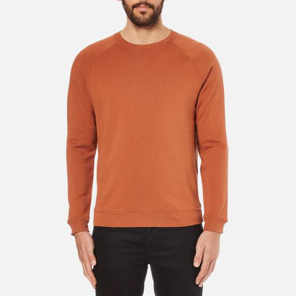 Folk Men's Crew Neck Sweatshirt - Rust