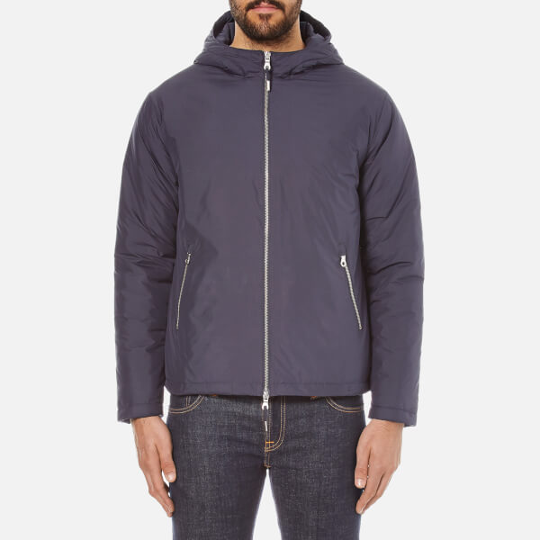 Folk Men's Zipped Hooded Jacket - Navy