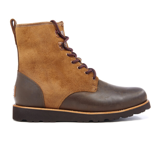 UGG Men's Hannen TL Waterproof Leather Lace Up Boots - Dark Chestnut