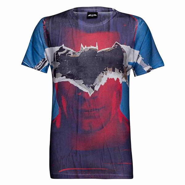 DC Comics Men's Batman Tear T-Shirt - Blue