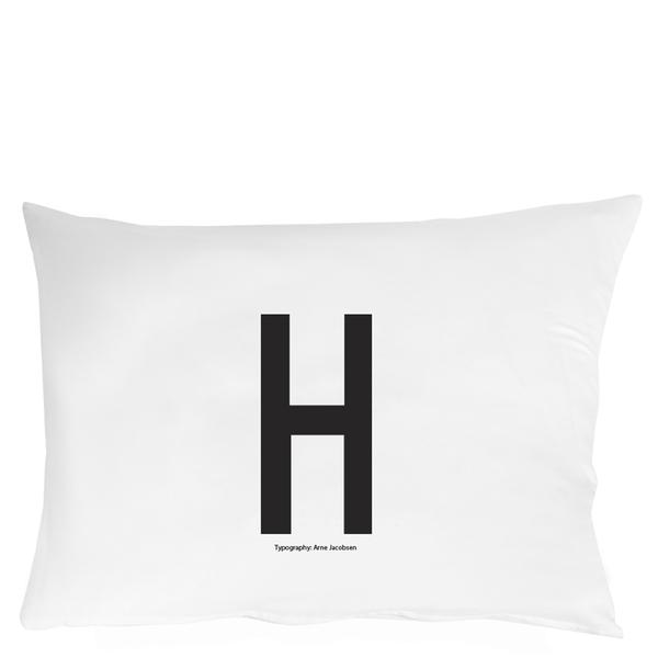 Design Letters Pillowcase - 70x50 cm - H
