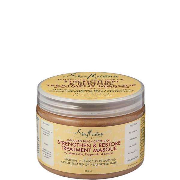 Mascarilla de Tratamiento Strengthen, Grow & Restore con Aceite de Ricino Negro Jamaicano de Shea Moisture326 ml
