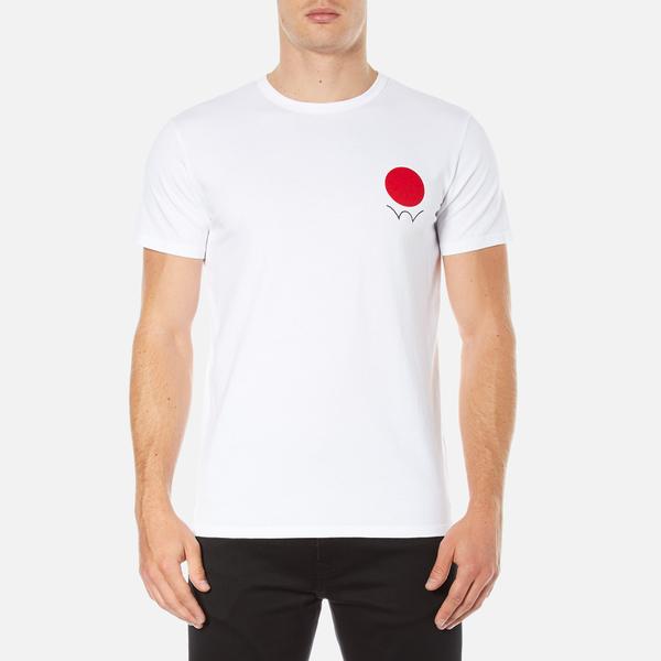 Edwin Men's Red Dot Logo 2 T-Shirt - White