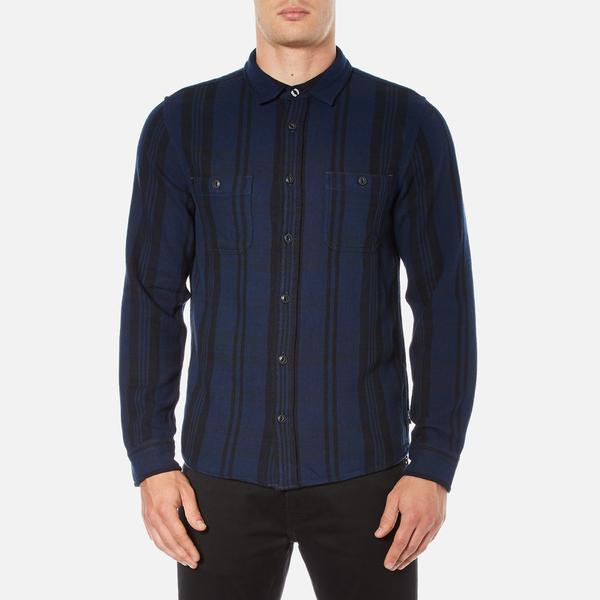 Edwin Men's Labour Shirt - Navy/Black