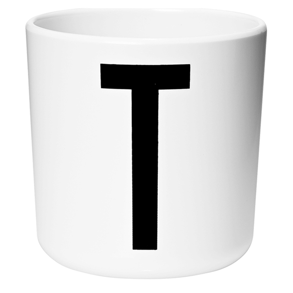 Design Letters Kids' Collection Melamin Cup - White - T