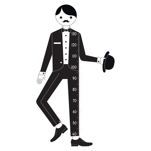 Design Letters Kids' Collection Measureman Wallsticker - Black