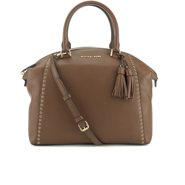 MICHAEL MICHAEL KORS Women's Riley Large Grommet Satchel - Dark Caramel