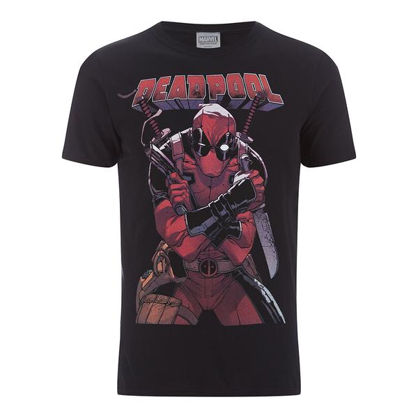 Marvel Men's Deadpool Logo T-Shirt - Black