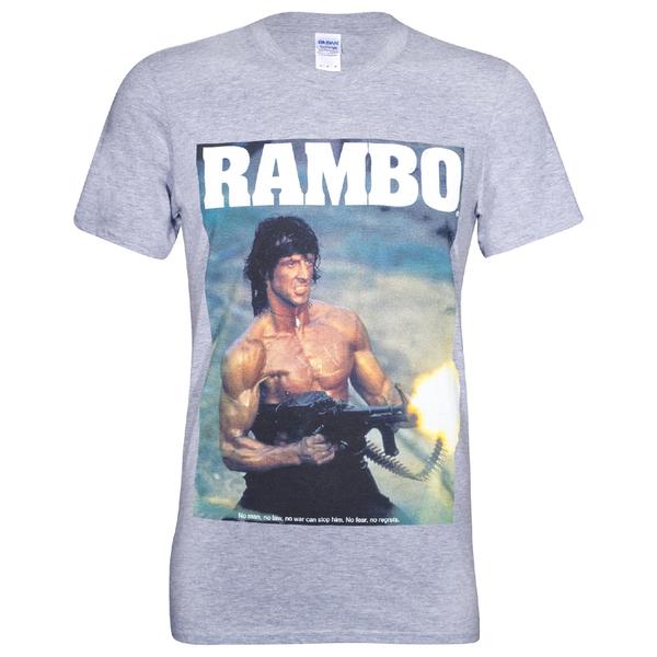 Rambo Men's Gun T-Shirt - Grey