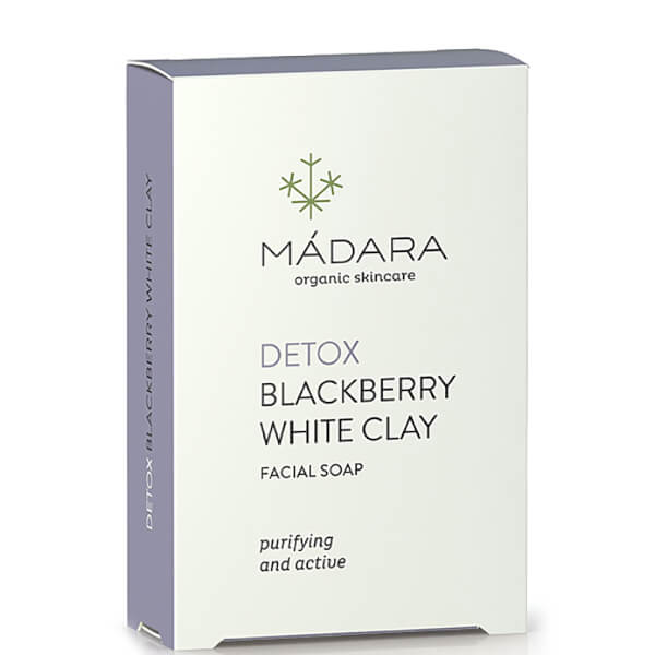 MÁDARA Blackberry White Clay Clarifying Face Soap 70g