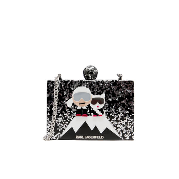 Karl Lagerfeld Women's Holiday Iceberg Minaudiere Bag - Black