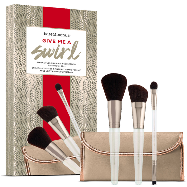 bareMinerals Give me a Swirl Brush Collection includes Brush Roll