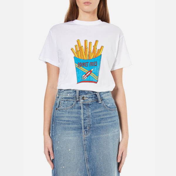 Ganni Women's Berkeley Rocket Fries T-Shirt - Bright White