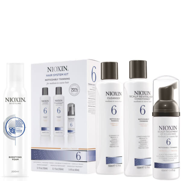 Nioxin Hair System Kit 6 and Bodifying Foam Bundle
