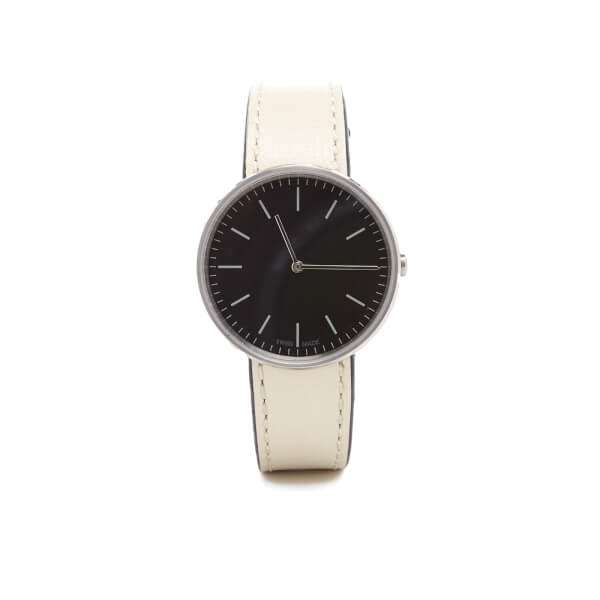 Uniform Wares Women's Mist Calf Leather Watch - Polished Steel