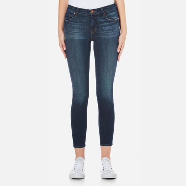 J Brand Women's Mid Rise Cross Hatch Super Stretch Capri Skinny Jeans - Sublime