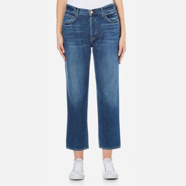 J Brand Women's Ivy High Rise Super Soft Denim Crop Straight Jeans - Entice