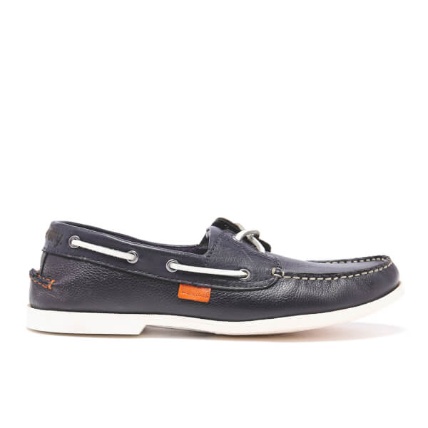 Superdry Men's Leather Boat Shoes - Navy