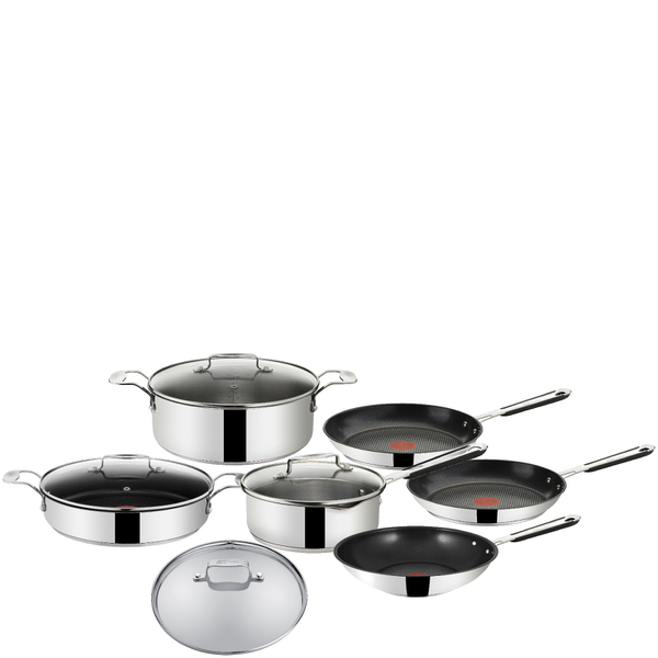 jamie oliver by tefal stainless steel 7 piece cookware set iwoot. Black Bedroom Furniture Sets. Home Design Ideas