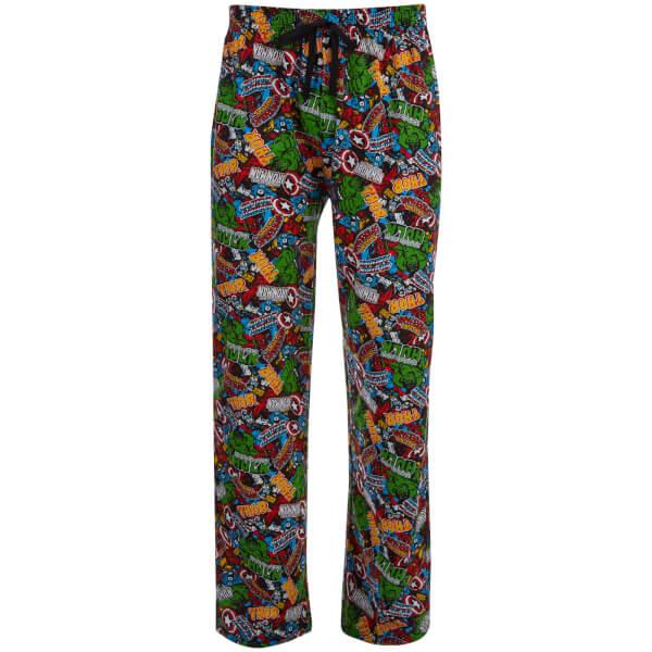 Marvel Comics Men's Avengers All Over Print Lounge Pants - Multi