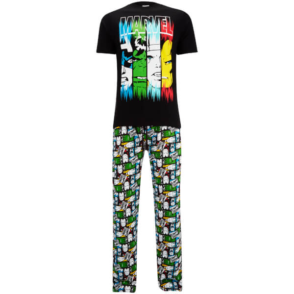 Marvel Men's Pyjama Set - Black