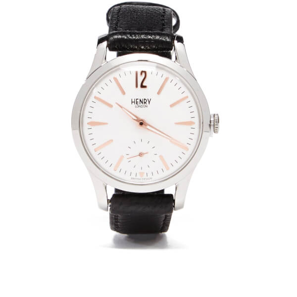 Henry London Highgate Leather Watch - Black