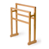 Wireworks Arena Bamboo Towel Rail: Image 2