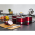 Morphy Richards 46391 3 Piece Saucepan Set - Red - 16/18/20cm: Image 2