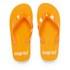 PE Beach Flip Flops with PVC Strap - Orange - Large: Image 1