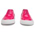 Folk Women's Isa Patent Leather/Suede Plimsoll Trainers - Fluro Pink: Image 4