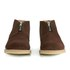 YMC Men's Crepe Sole Zip Front Suede Chukka Boots - Brown: Image 4