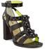 Markus Lupfer Women's Glitter Black Balls Block Heeled Sandals - Black: Image 5
