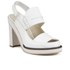 Jil Sander Navy Women's Leather Heeled Sandals - White: Image 5