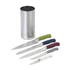 Salter Colour Collection 5 Piece Stainless Steel Kitchen Knife Set With Knife Block: Image 1