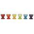 Le Creuset Stoneware Rainbow Egg Cups (Set of 6) - Multi: Image 1