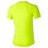 Asics Men's Stripe Shorts Sleeve Running T-Shirt - Safety Yellow: Image 2