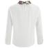 Vero Moda Women's Medine Contrast Collar Top - White: Image 4