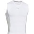 Under Armour Men's Heat Gear Armourstretch Sleeveless Training T-Shirt - White/Steel: Image 1