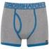 Crosshatch Men's Squint 2-Pack Boxer Shorts - Mykonos Blue/Grey Marl: Image 4