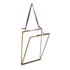 Nkuku Kiko Antique Brass Glass Frame - Portrait 5x7 Inches: Image 4