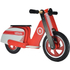 Kiddimoto Scooter - Red/White: Image 1
