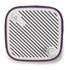 Sonoro Cubo Go New York Portable Bluetooth Speaker - White/Purple Felt: Image 3
