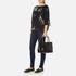 Lauren Ralph Lauren Women's Newbury Zip Shopper Bag - Black: Image 7