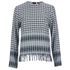 House of Holland Women's Afghan Check Long Sleeve Top - Black/White: Image 1
