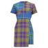House of Holland Women's Cross Over Tartan Dress - Blue/Purple/Tartan: Image 1