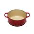 Le Creuset Signature Cast Iron Round Casserole Dish - 28cm - Cerise: Image 2