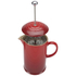 Le Creuset Stoneware Cafetiere Coffee Press - Cerise: Image 4