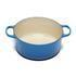 Le Creuset Signature Cast Iron Round Casserole Dish - 28cm - Marseille Blue: Image 2